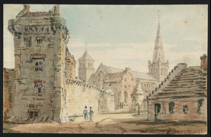 Glasgow High Street, Looking towards the Cathedral, 1797 - Thomas Girtin