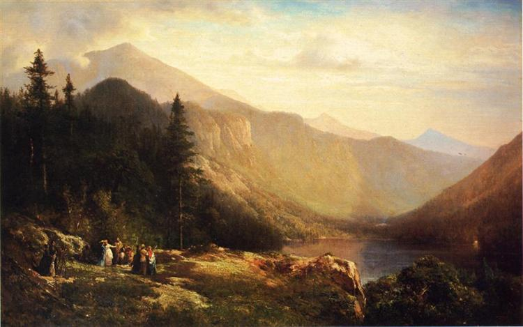 An Artist's View of Mt. Lafayette, 1871 - Thomas Hill
