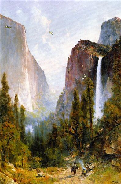 Bridal Veil Fall, Yosemite Valley, 1892 - Thomas Hill