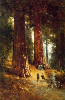 In the Redwoods - Thomas Hill