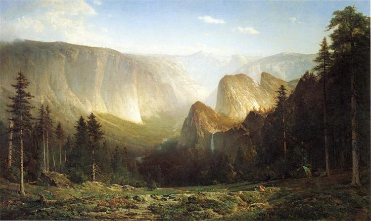 Piute camp, Great Canyon of the Sierra, Yosemite - Thomas Hill