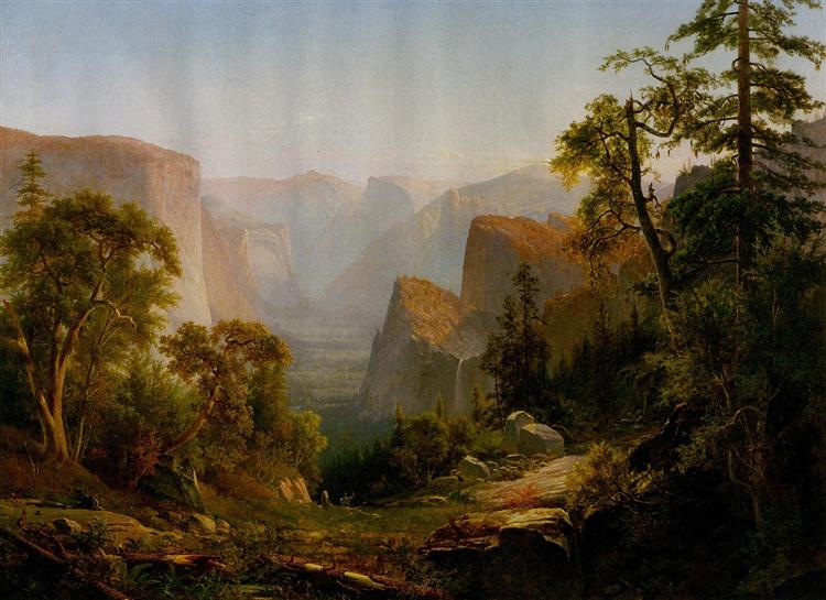 View of the Yosemite Valley, in California, 1865 - Thomas Hill