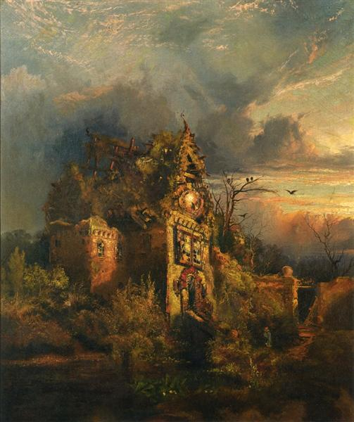 Haunted House, 1858 - Thomas Moran