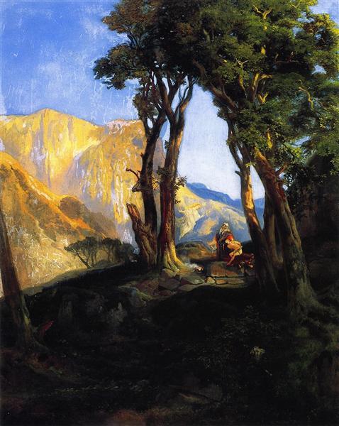 The Sacrifice of Isaac, 1868 - Thomas Moran