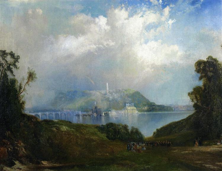 View of Fairmont Waterworks, Philadelphia, 1860 - Thomas Moran