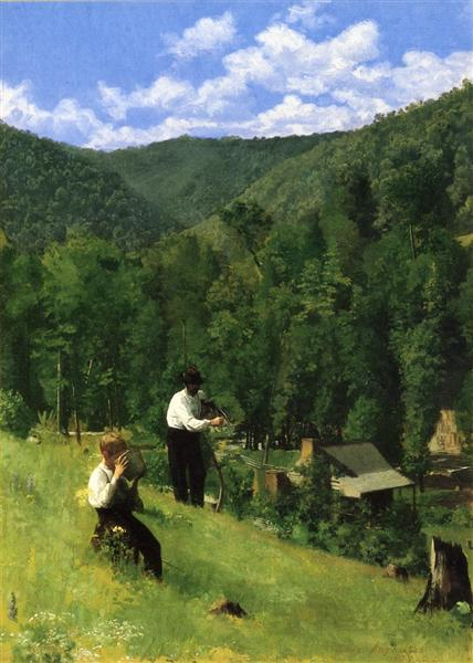 The Farmer and His Son at Harvesting, 1879 - Thomas Pollock Anshutz