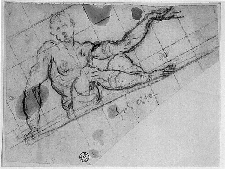 Design for an Allegory of Fortune (Felicità), 1564 - Tintoretto