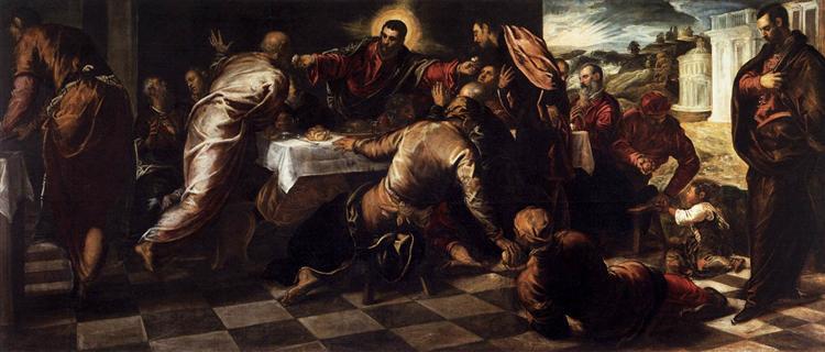 Last Supper, c.1570 - Tintoretto