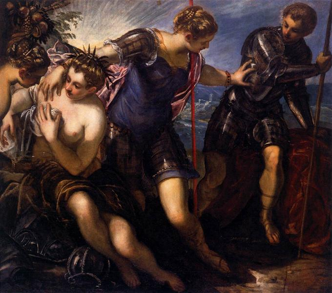 Minerva Sending Away Mars from Peace and Prosperity, 1576 - 1577 - Tintoretto