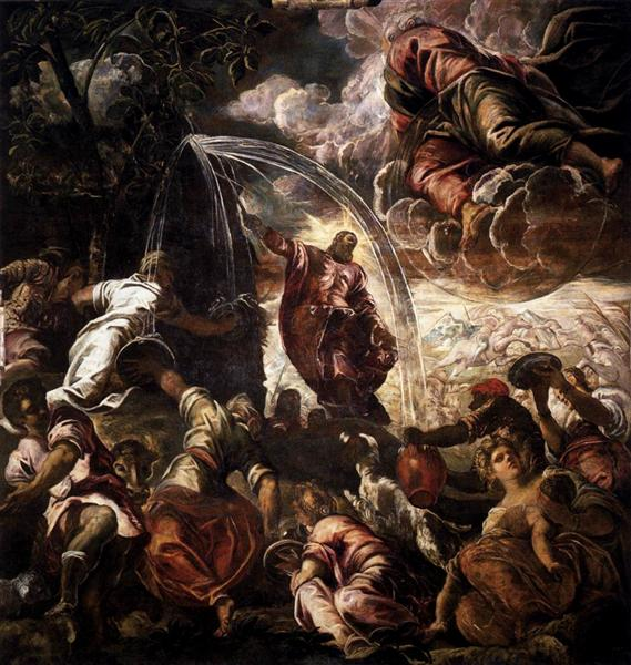 Moses Drawing Water from the Rock, 1575 - 1577 - Tintoretto