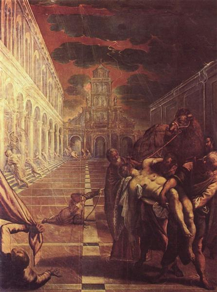 Recovery of the corpse of St. Mark - Tintoretto