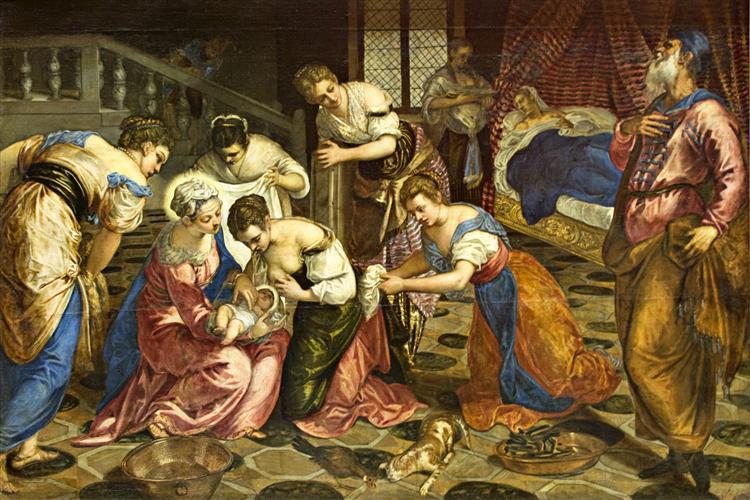 The Birth of John the Baptist, c.1554 - Tintoretto