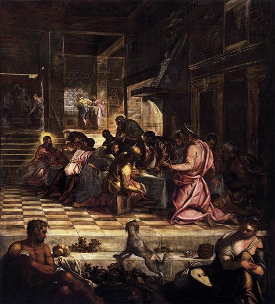 The Last Supper, 1579 - 1581 - Tintoretto