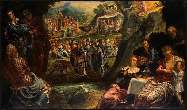 The Worship of the Golden Calf, c.1560 - Tintoretto