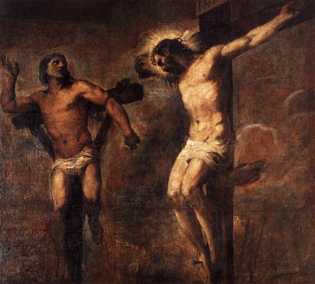 Titian - Christ and the Good Theif