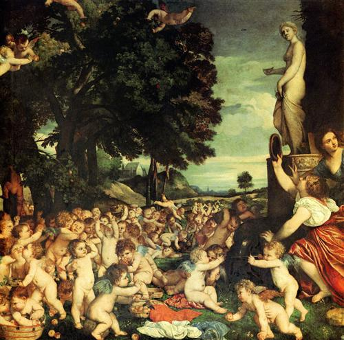 The Worship of Venus - Titian