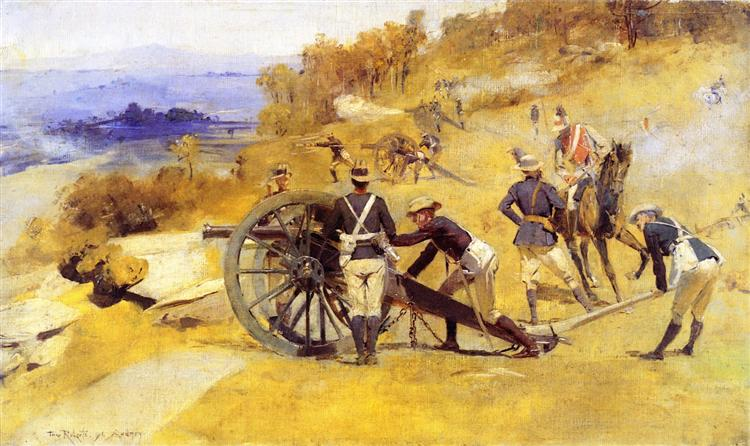 A Battery Field Artillery, New South Wales, 1896 - Tom Roberts