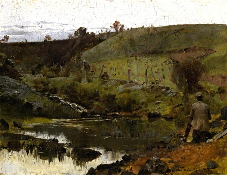 A Quiet Day on the Darebin Creek, 1885 - Tom Roberts