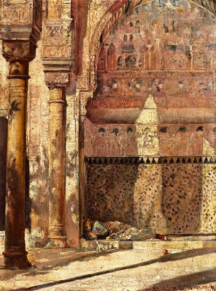 Basking - A Corner in the Alhambra, 1883 - Tom Roberts