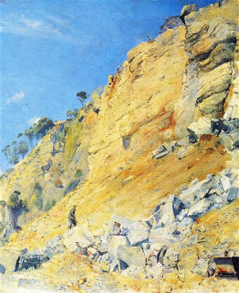 The Quarry, Maria Island, 1926 - Tom Roberts