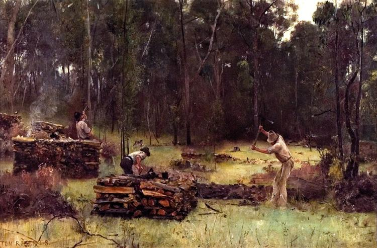 Wood Splitters, 1886 - Tom Roberts