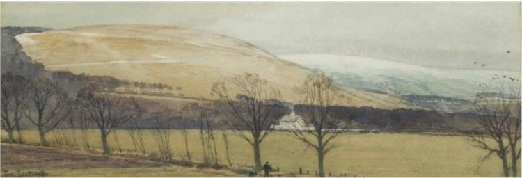 The First Snow, Howden Hill, Selkirk, 1918 - Том Скотт