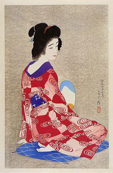 In a Long Undergarment, 1929 - Torii Kotondo