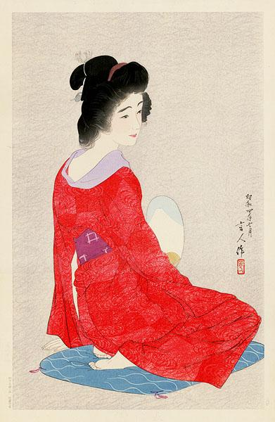In a Long Undergarment (variant), 1929 - Torii Kotondo