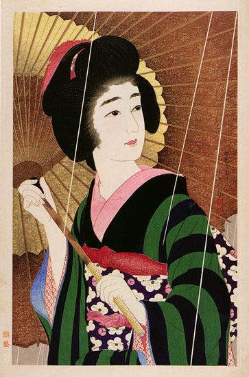 Rain, 1929 - Torii Kotondo