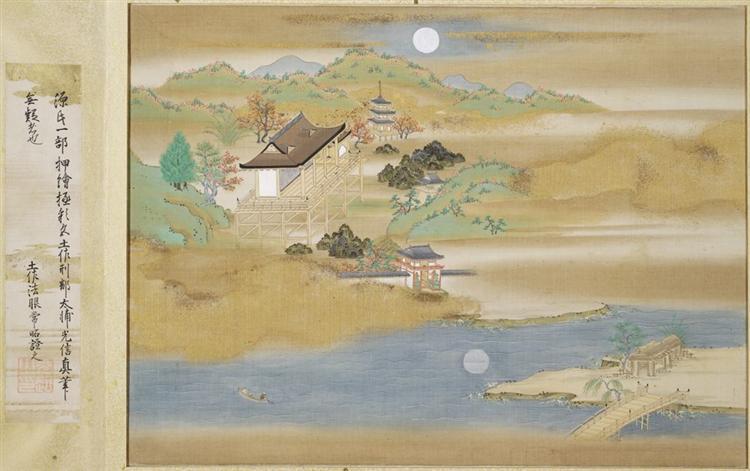 Landscape around Ishiyama-dera and Lake Biwa - Tosa Mitsuoki