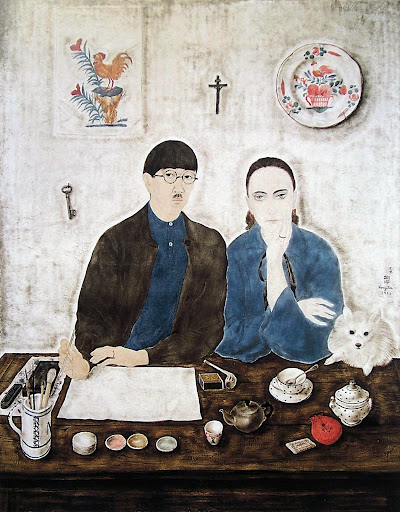 Interior, My Wife and Myself, 1923 - Tsuguharu Foujita