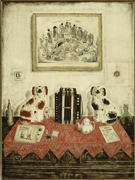 Mon intérieur, Paris (Nature morte à l'accordéon), 1922 - Tsuguharu Foujita