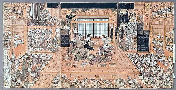 Interior of a Theatre - Utagawa Toyokuni II