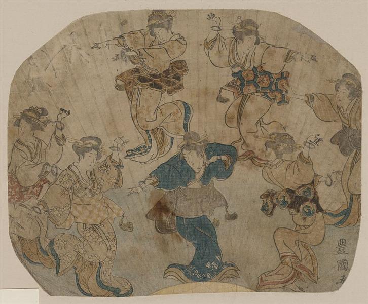 Dance, c.1814 - Utagawa Toyokuni