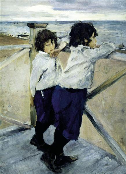 Children. Sasha and Yura Serov, 1899 - Valentin Serov