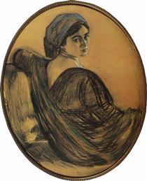 Portrait of Henrietta Girshman - Valentin Serov