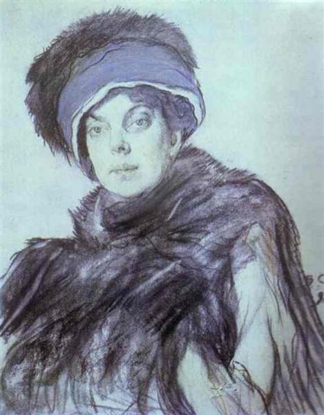 Portrait of Izabella Grunberg, 1910 - Valentín Serov