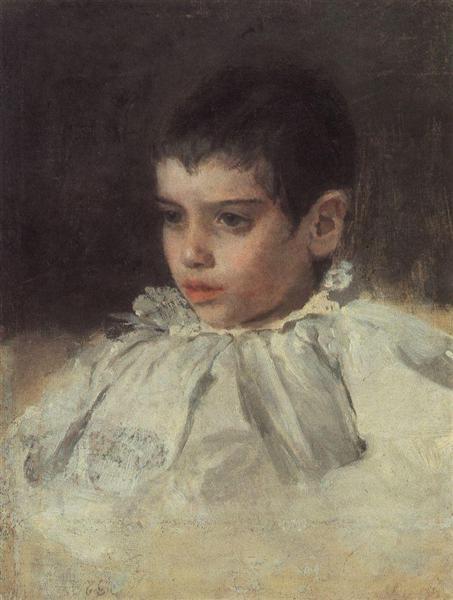 Portrait of Lialia (Adelaida) Simonovich, 1880 - Valentin Serov