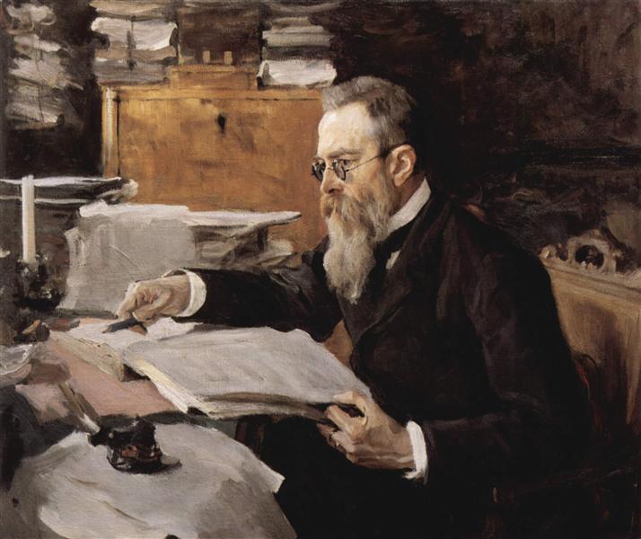 Portrait of Nikolai Andreyevich Rimsky-Korsakov, 1898 - Valentin Serov