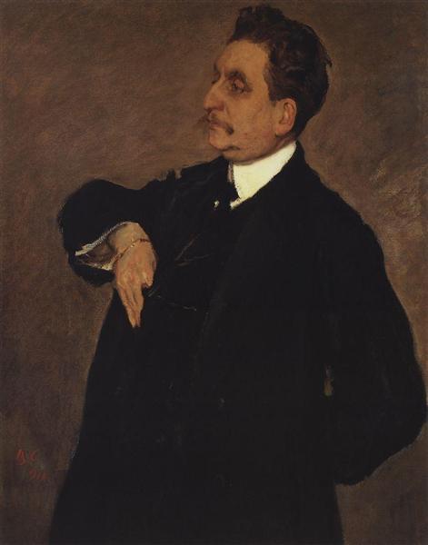 Portrait of Vladimir Girshman, 1911 - Valentin Serov