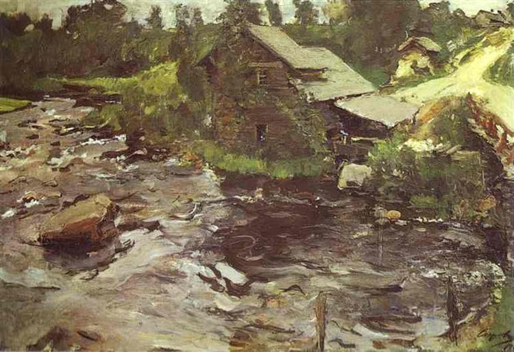 Водяная мельница в Финляндии, 1902 - Валентин Серов