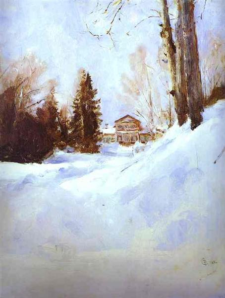 Winter in Abramtsevo, 1886 - Valentin Serov