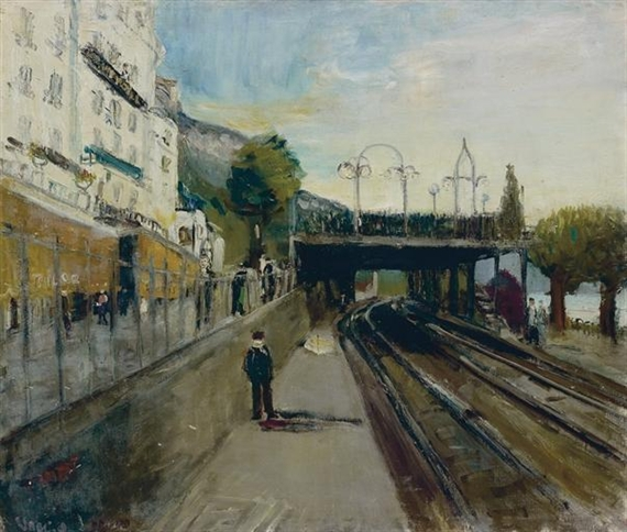 Crossing in Territet, 1936 - Varlin