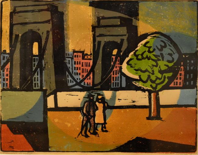Landscape with Bridge, 1963 - Vasile Dobrian