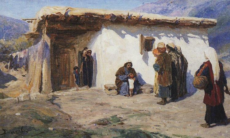 They Brought the Children, c.1900 - Vasily Polenov