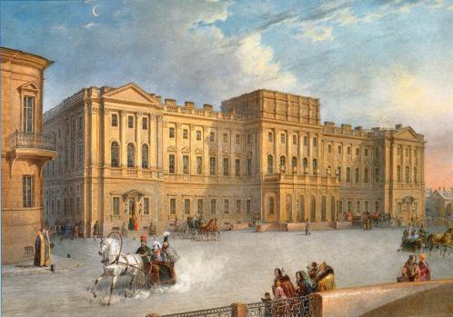 Mariinsky Palace as Seen from the Blue Bridge - Vasily Sadovnikov