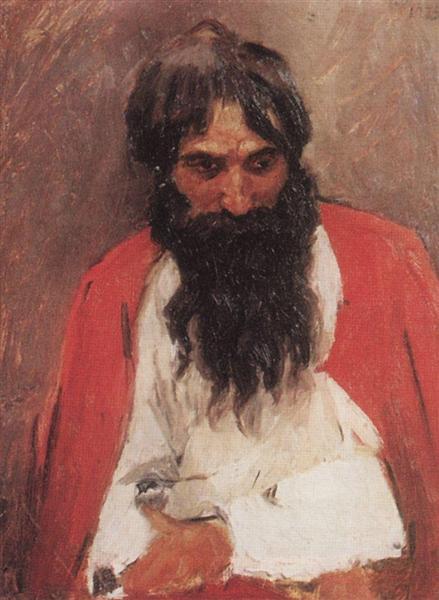 Blackbearded old man, 1879 - Wassili Iwanowitsch Surikow