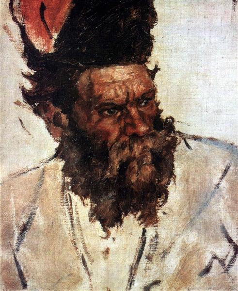 "Don Cossack Rjidin (Study to ""The Conquest of Siberia by Yermak"") - Vasily Surikov"