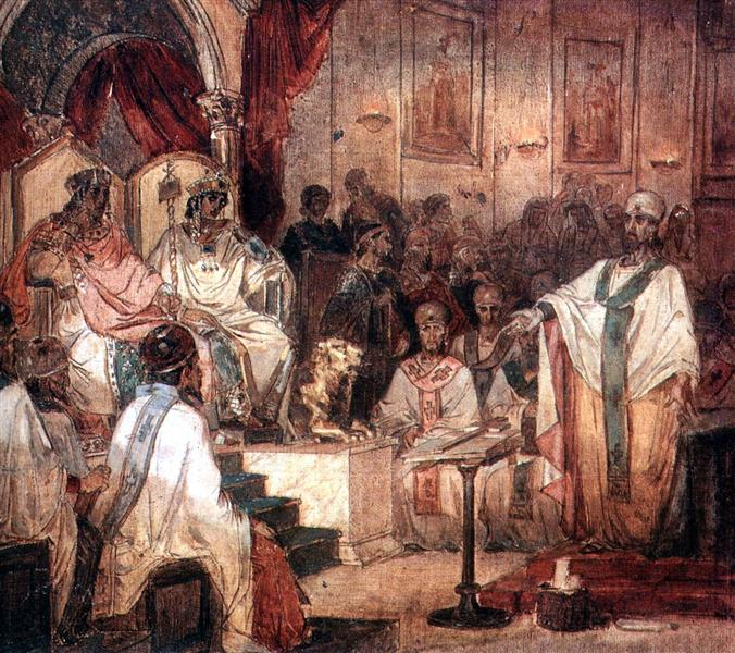 Fourth Ecumenical Council of Chalcedon, 1876 - Vasily Surikov