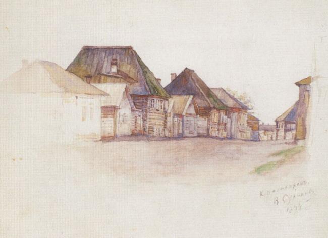 Krasnoyarsk. Kachinskaya street., 1893 - Vasily Surikov